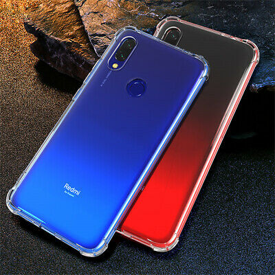 For Xiaomi Redmi 7 Note 7 6 Pro Transparent Silicone Soft Shockproof Case Cover