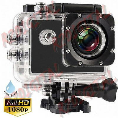 GOPRO VIDEOCAMERA FULL HD Display LCD SUBACQUEA PRO ACTION CAM CON ALLOGGIO SD