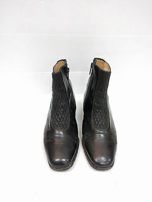 Size 37 Vintage Ladies Rock Grunge Made in Italy Leather Ankle boots