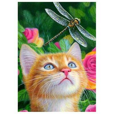 5D DIY Full Drill Diamond Painting Lovely Cat Cross Stitch Embroidery Kits #Z