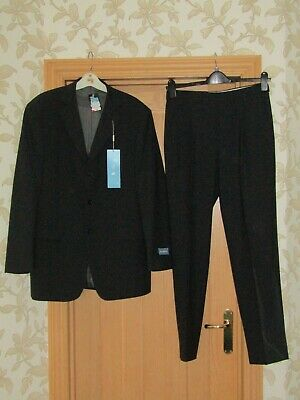 "Marks & Spencer men's tailored charcoal washable suit 40M 30x31"" bnwt rrp £129"