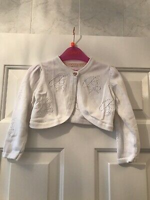 Ted Baker Baby Girls Cardigan Size 18-24 Months White Worn Once