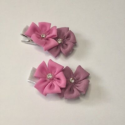 Clibella SALE!Pair Of Fiona Flower hair Clips/hair Bows/girls Accessories/gifts