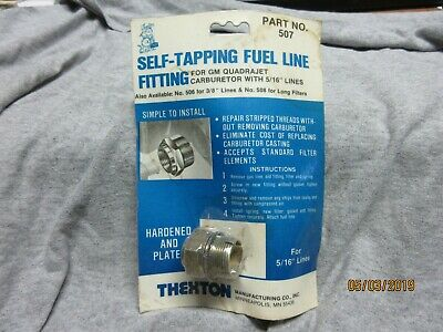 """Thexton 510 GM Self-Tapping Fuel Line Fitting 1/"""" Fuel Inlet Nut"""