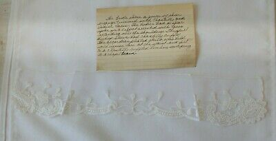 Vintage Antique Lace Collar with history of Bride's Dress Gown at the Wedding