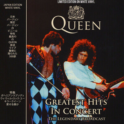 Queen Greatest Hits In Concert The Legendary Vinile Lp Bianco (White) Nuovo
