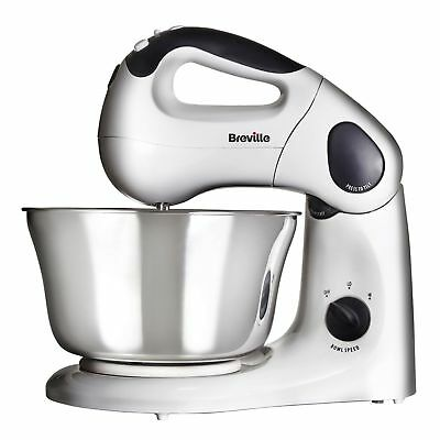 Breville  VFP026 2 In 1 Stand & Hand Mixer Compact Twin Motor New