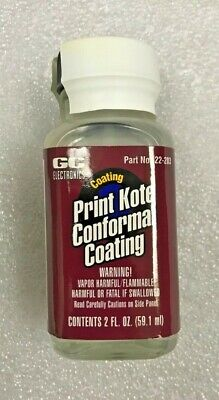 GC Electronics  Print Kote Conformal Coating, 59.1 ml(2fl.oz) Bottle wBrush Cap