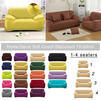 1 2 3 4 Seater Chair Sofa Cover Stretch Fit Protector Couch Elastic Slipcover US