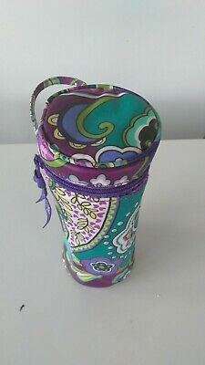 Vera Bradley Heather Thermal Insulated Can Cooler Baby Bottle Holder EUC Fr Ship