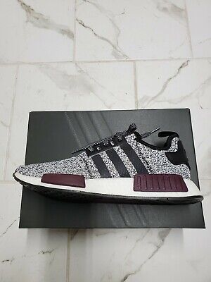 5208b9eb64398 DS Adidas NMD R1 Champs Exclusive - Grey Static Wool Burgundy Size 11  B39506 NEW