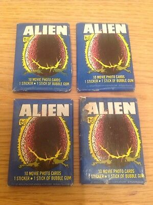 1979 Alien Topps Trading Cards Unopened packs cards stickers bubblegum