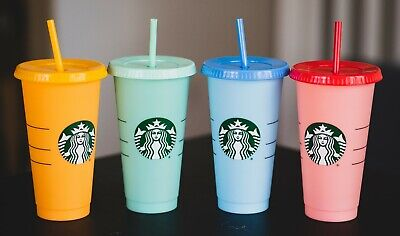 SINGLE Starbucks Reusable COLOR CHANGING Cold Cups Summer 2019 24 oz - ONE CUP