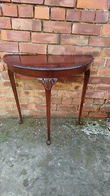 Mahogany Demi Lune Console Table