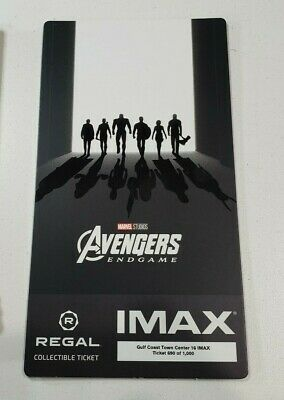 Avengers End Game  Regal Movie Collector's Ticket ~ Limited Edition