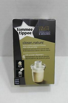 6 Pcs x Tommee Tippee Closer to Nature Travel Milk Powder Dispensers BPA Free