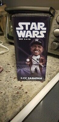 New York Yankees CC Sabathia Star Wars SGA Bobblehead 5/4/19 New in Box unopened