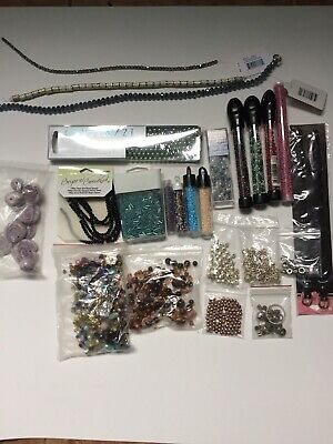 Large Lot Of Mixed Assorted Beads Jewelry Making Supplies & Crafts 1.7 Lbs
