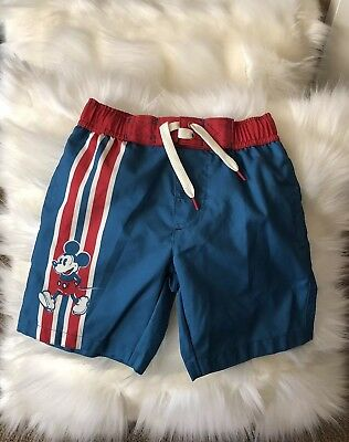 843a02d17a Junk Food Disney Mickey Mouse Blue Swim Trunks Boys Board Shorts Size  X-Small