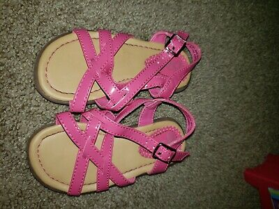 The Children/'s Place toddler girls neon pink summer patent sandals 4-5 /& 6-7 NWT