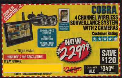 COBRA 4 CHANNEL Wireless Surveillance System 63842 - $186 99 | PicClick
