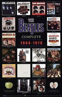 2009 THE BEATLES THROUGH THE YEARS POSTER NEW 24x36 BONUS GUITAR PICK FREE SHIP