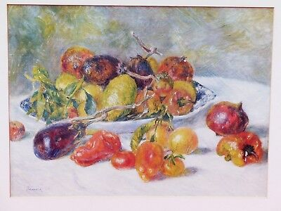 Vintage Auguste Renoir Fruits Of The Midi Art Institute Chicago Lithograph Print