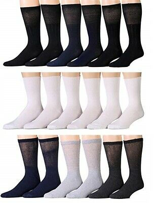 New 3,6,12 Pairs Ladies Women Diabetic Crew Circulatory Socks Health Cotton 9-11