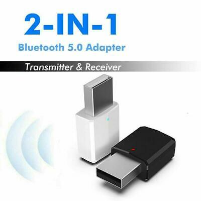 USB Wireless Bluetooth 5.0 Receiver Audio Transmitter Dongle Adapter For PC