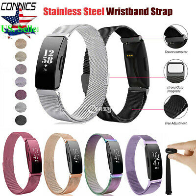 For Fitbit Inspire/Inspire HR Milanese Stainless Steel Magnetic Band Watch Strap