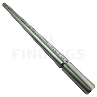 Ring sizer mandrel Engraved uk sizes solid steel finger A-Z jewellery craft tool
