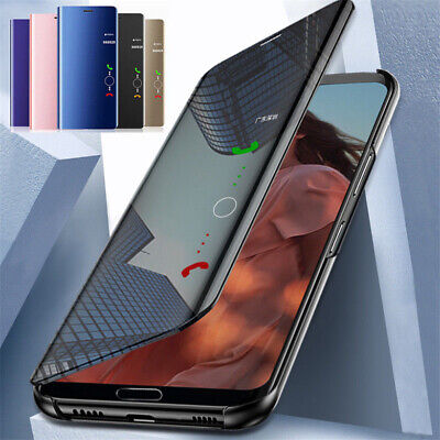 For Samsung Galaxy A70 A50 A40 Smart Clear Mirror Flip Leather Stand Case Cover