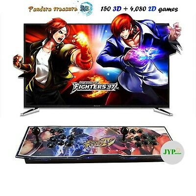 NEW! Pandora Box 9S 2070 3D & 2D Games in 1 Home Arcade Console 1080P HDMI USA