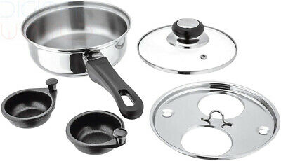 Home, Furniture & Diy Food Preparation & Tools Eddingtons Non Stick Steel Double Egg Poacher With The Best Service