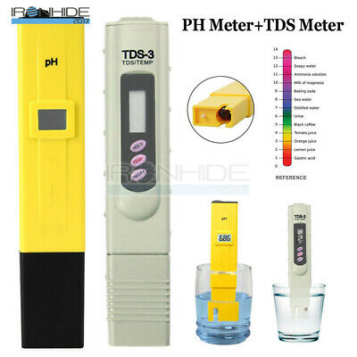 Digital TDS Tester PH Meter  Aquarium Pool Hydroponic Water Monitor 0-9999 PPM