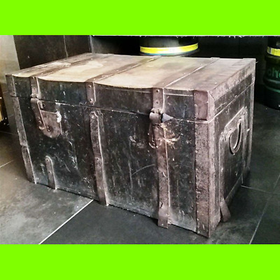 Trunk Vintage Real Wood Years 30 after War - 70x40x40