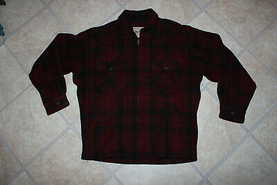 b0be9babe4066 VINTAGE WOOLRICH MADE in USA Black Red Buffalo Check Tartan Tweed ...