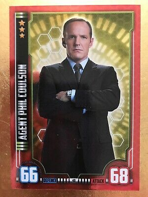 Hero Attax Marvel Cinematic Universe #40 Agent Phil Coulson - Foil Card