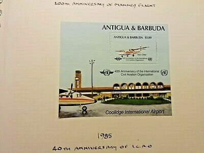 Antigua And Barbuda 40th Anniversary Of Civil Aviation 1885 Buy Now Stamps