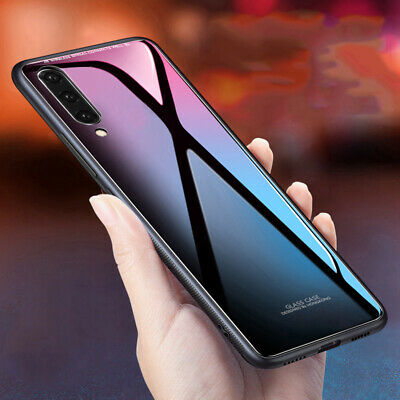 For Samsung Galaxy A50 A70 A40 30 Shockproof Tempered Glass Case Hard Back Cover
