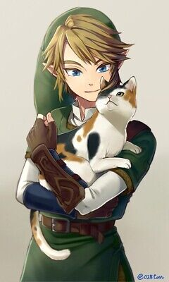 Zelda Cat Link Classic Video Game Cute Kitty Meow Funny Pun Cool Sticker