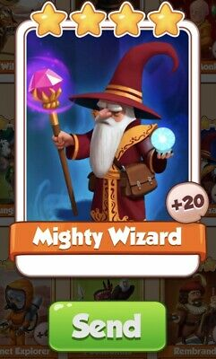 Coin Master Cards Mighty Wizard and other available
