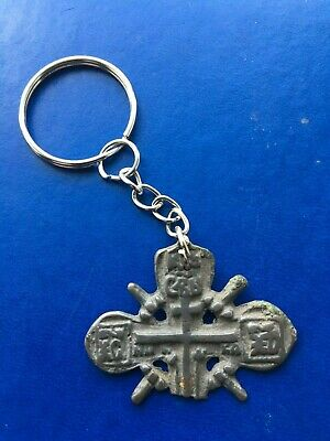 Ancient cross  keychain Metal detector finds + Hand made 100% original