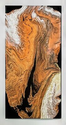 Modern. Hand Painted. Wall Art Acrylic Painting with Clear Epoxy Resin
