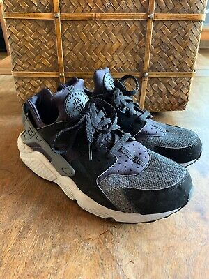 separation shoes c1b2f fdba9 Nike Air Huarache Mens 318429-039 Black Grey Anthracite Running Shoes Size  10