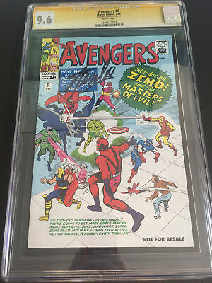 Avengers #6 (2006 Marvel Legends Exclusive) CGC SS 9.6 STAN LEE Signed