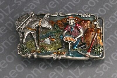 Gold Rush 3D Collectible Belt Buckle Arroyo Grande Buckle Co. 1981