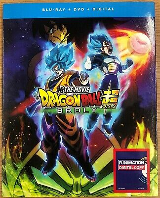 Dragon Ball Super Broly The Movie(Blu-Ray+Dvd+Digital)W/Slipcover New