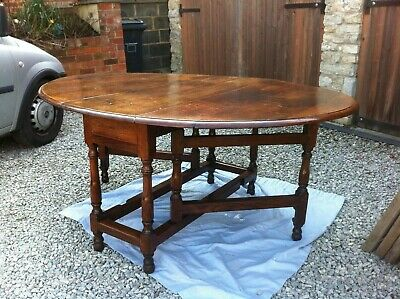Large 17Th Century Oak Gateleg Table With Character Charm & Exceptional Patina