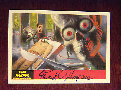 2017 Topps MARS ATTACKS: The Revenge Artist Autographed Card #12 by Fred Harper